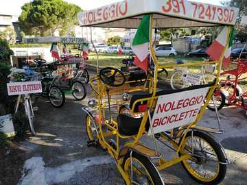 Affitto con pagamento online: Risciò elettrico (4/6 posti) - Noleggio Bici Rosignano