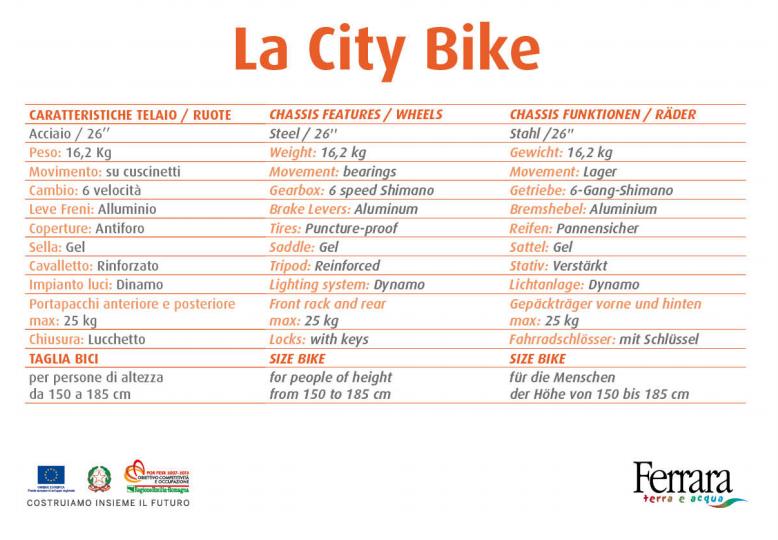 CITY BIKE CLASSICA 26'' - Noleggio city bike Bologna