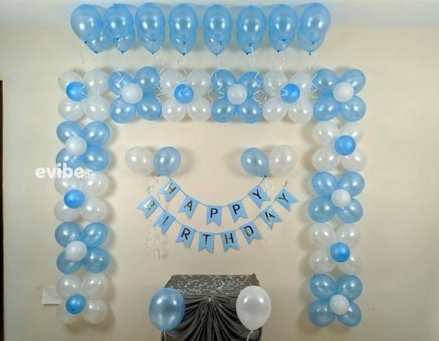 Blue Themed Birthday Décor