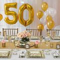 Renting out with online payment: Gold Silver Anniversary Décor