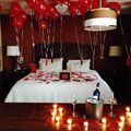 Renting out with online payment: Romantic Rose petals and Candles Decorations