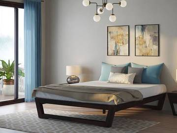 Selling without online payment: Queen Bed with Mattress and Side Table