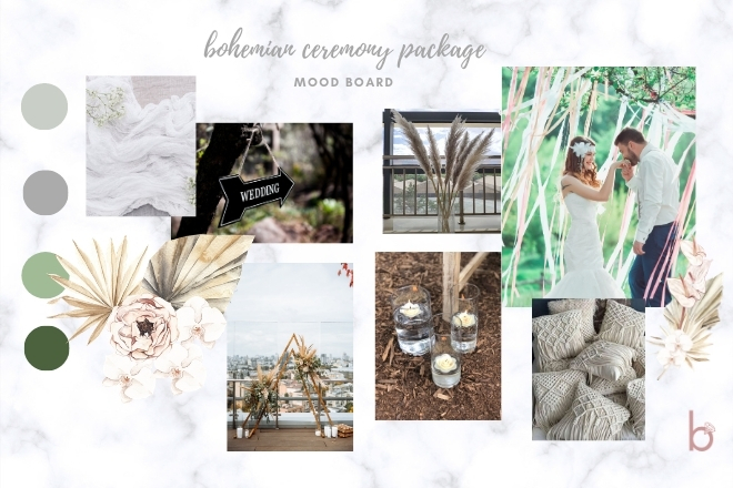 Vintage Bohemian  ~ Ceremony Package