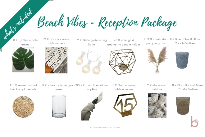Beach Vibes ~ Reception Package
