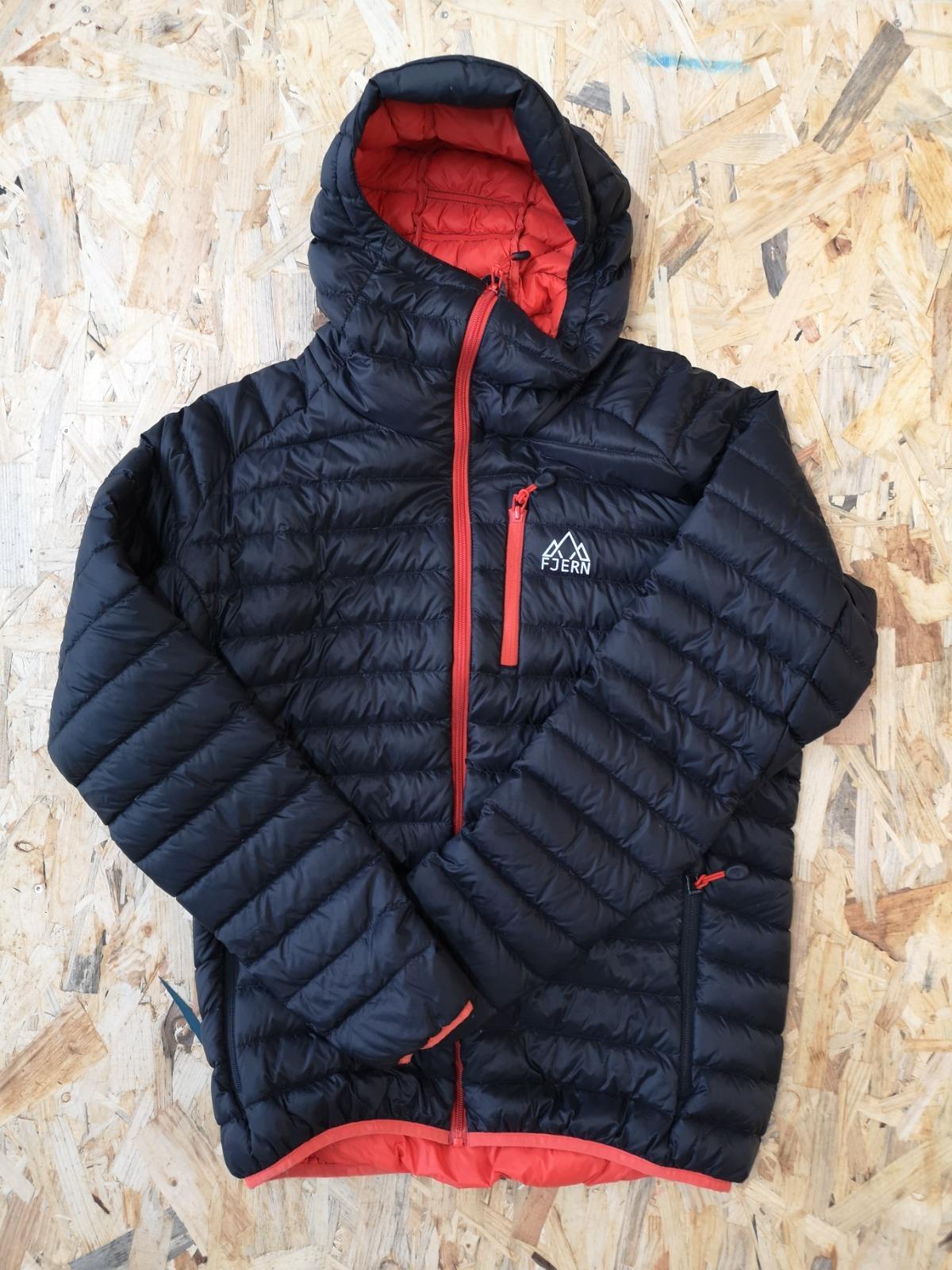 Fjern Down Jacket Black/Orange zips