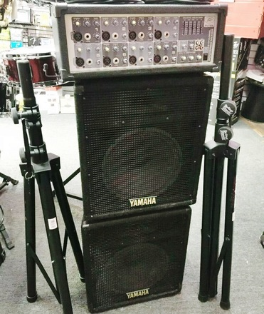 Complete PA System Yamaha Speakers / Peavey Mixer  AR233