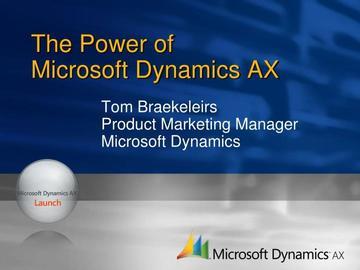 Consultation: Microsoft Dynamics AX Enterprise Portal (D365/2012-R3)