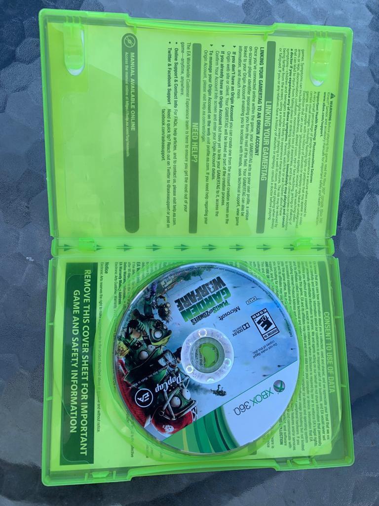 PvZ Garden Warfare for X-Box 360 (used)