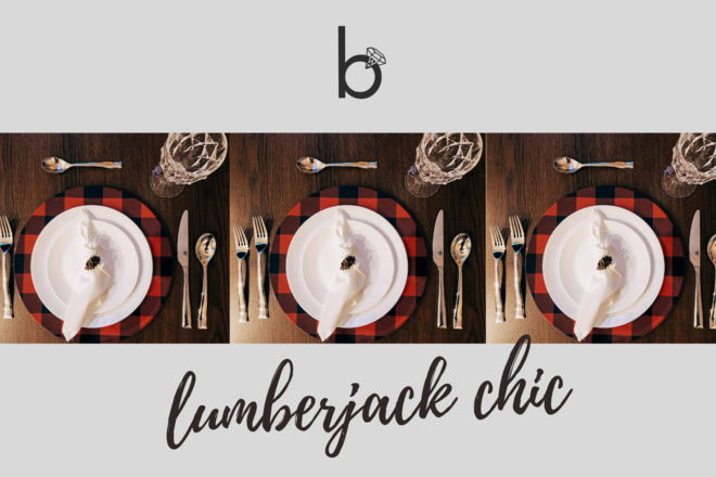Nightly rental: Lumberjack Chic Table Setting