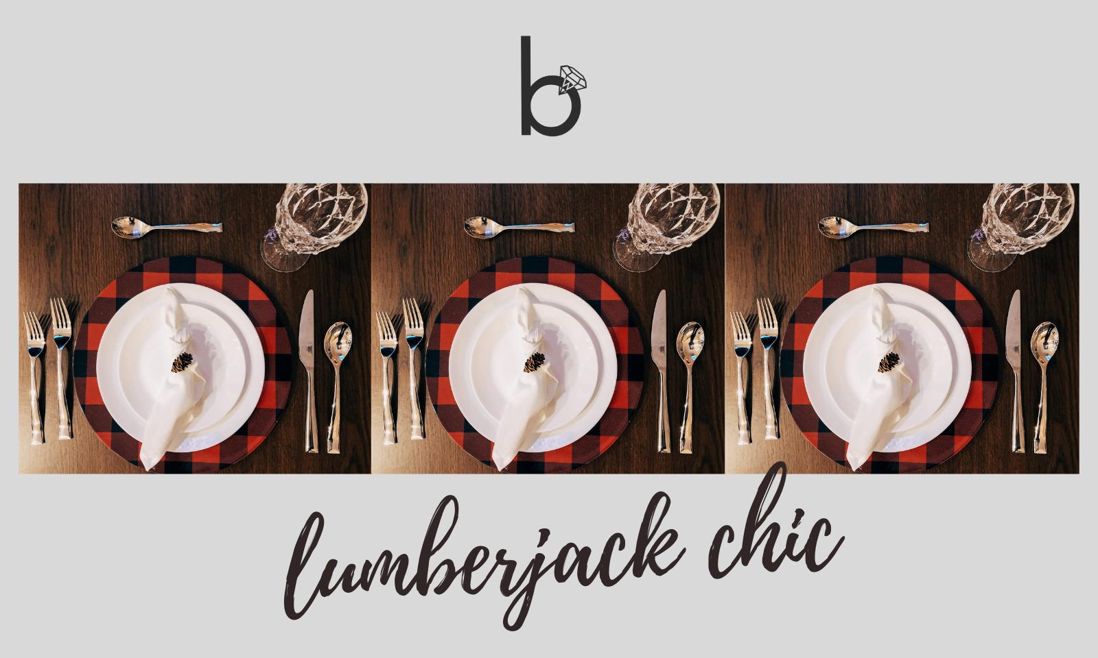 Lumberjack Chic Table Setting
