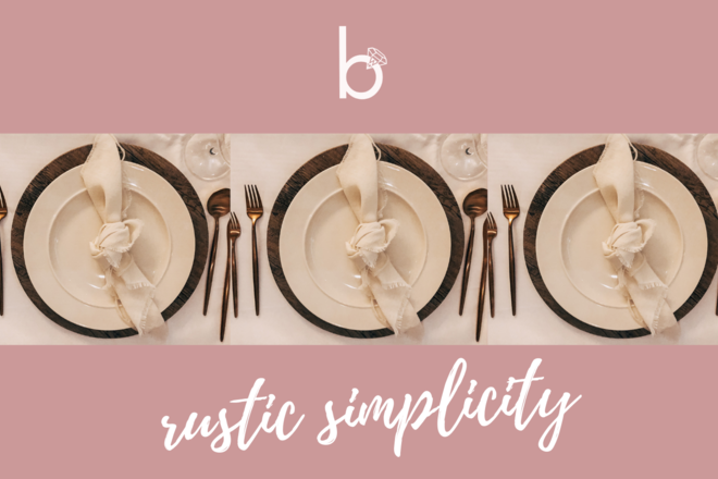 Nightly rental: Rustic Simplicity- Table Setting
