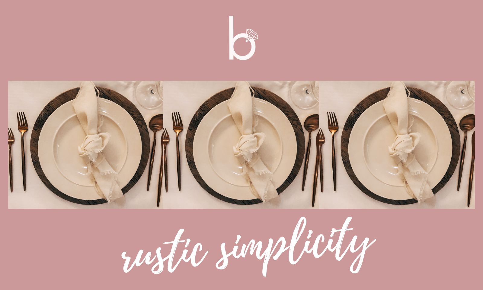 Rustic Simplicity- Table Setting