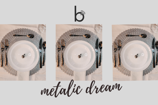 Nightly rental: Metalic Dream - Table Setting