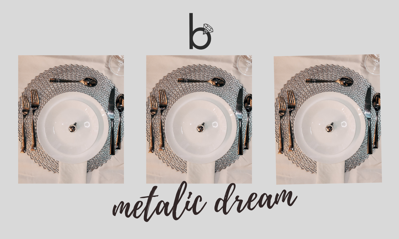 Metalic Dream - Table Setting