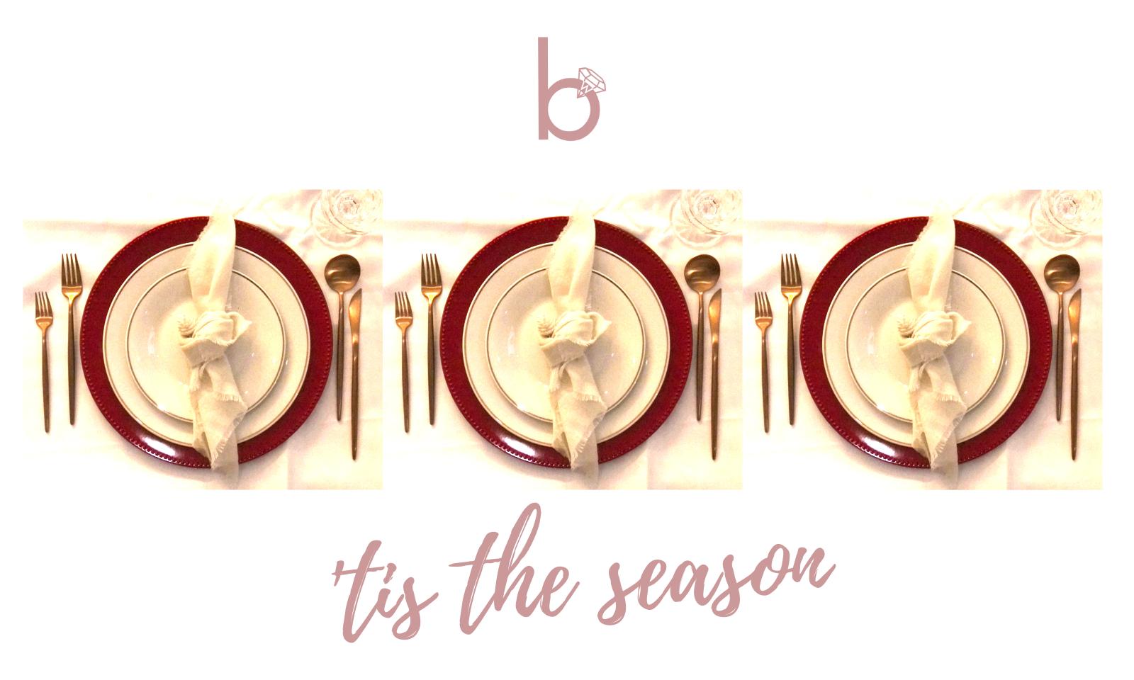'Tis the Season - Table Setting