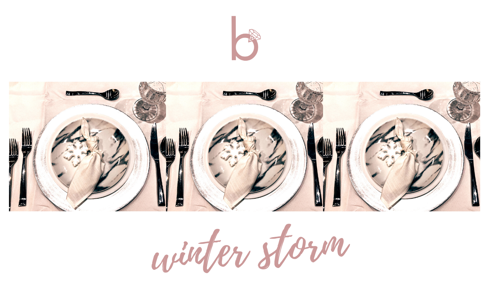 Winter Storm - Table Setting