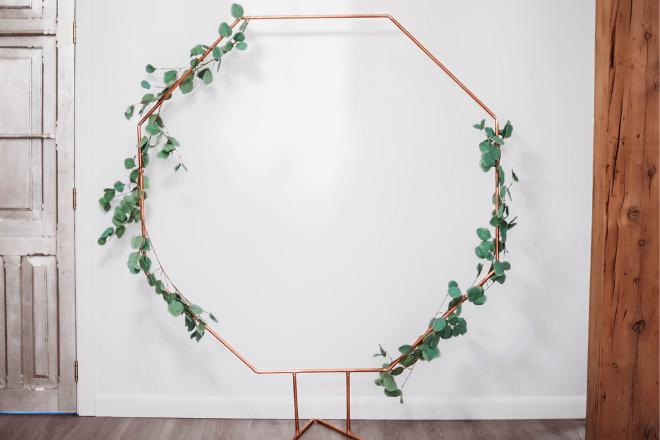 Copper Hexagon Arch