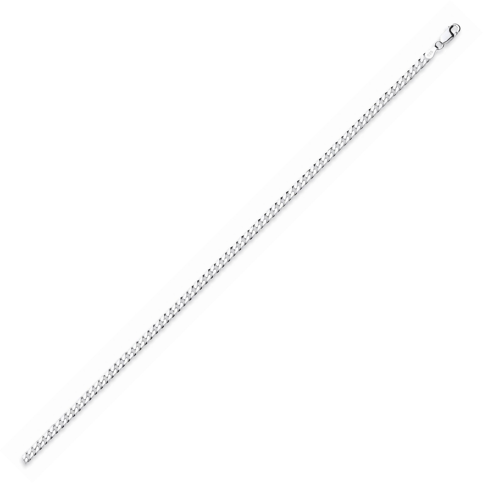 Silver Curb Anklet