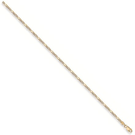 Selling: Y/G Rhodium Plated Figaro Anklet