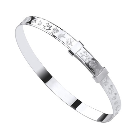 Selling: Silver Expandable Baby Bangle