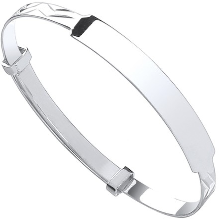 Selling: Silver Baby Expandable ID Bangle