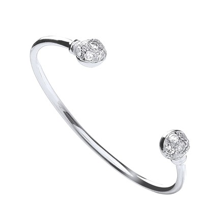 Selling: Silver Baby Cz Torque Bangle