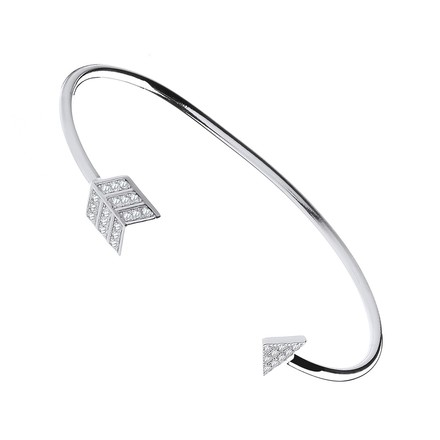 Selling: Silver Bow & Arrow Cz Bangle