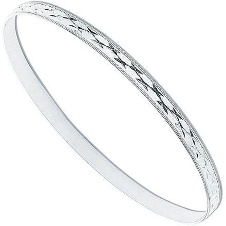 Selling: Silver 4mm D/C Slave Bangle