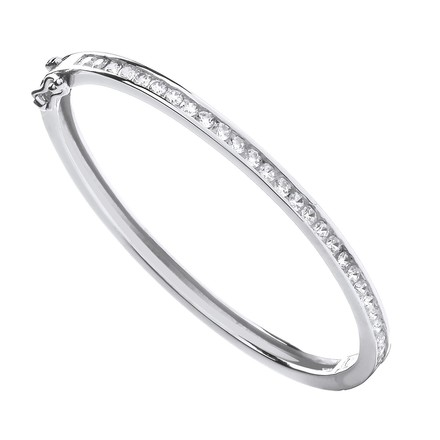 Selling: Silver Channel Set CZs Baby Bangle