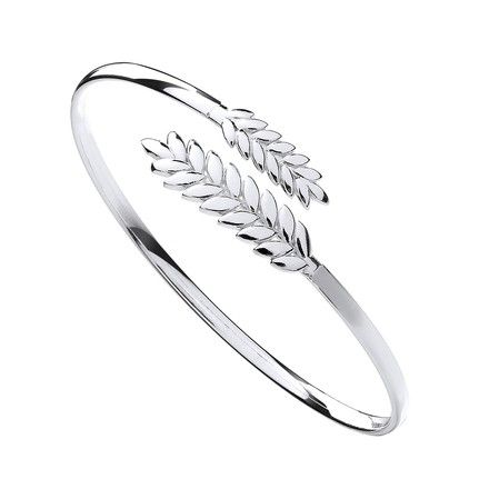 Selling: Silver Barley Leaf Ladies Bangle