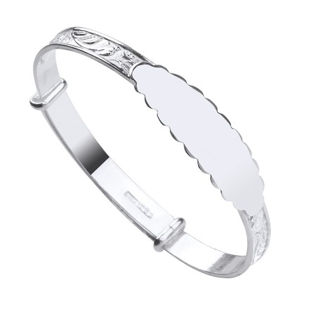 Selling: Silver ID Expandable Baby Bangle