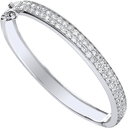 Selling: Silver Baby 2 Row Cz Bangle