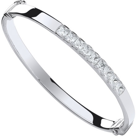 Selling: Silver Baby Cz Bangle