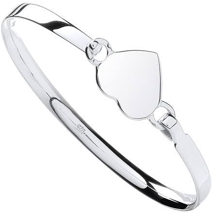 Selling: Silver Baby Heart Bangle
