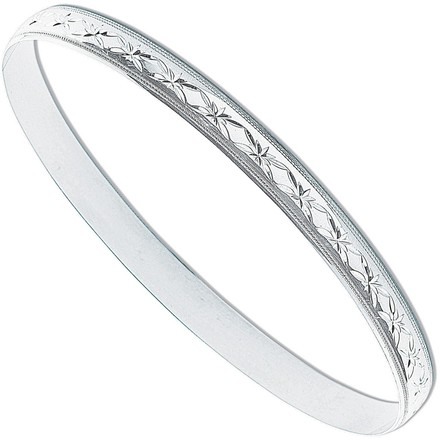 Selling: Silver 6mm D/C D-Shaped Slave Bangle