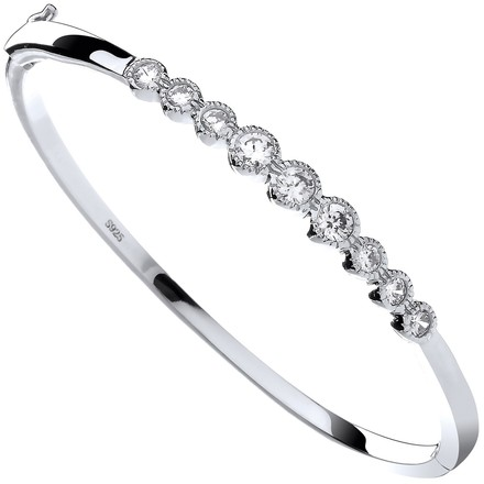 Selling: Silver Rubover Cz Ladies Bangle