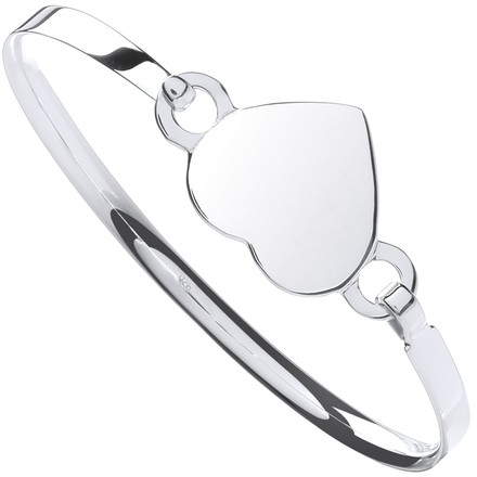 Selling: Silver Ladies Heart Bangle