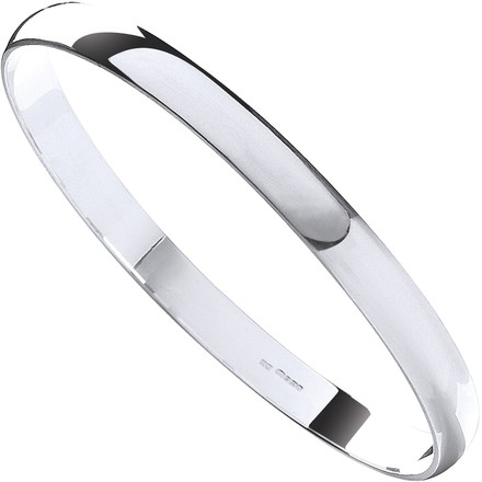Silver 7mm D - Shaped Slave Bangle