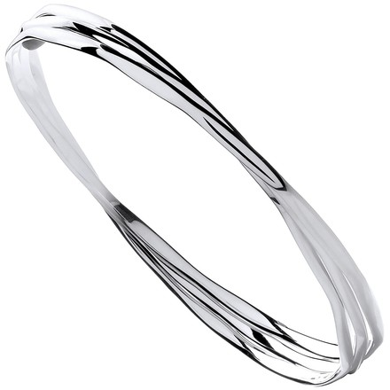 Selling: Silver Russian Faceted Ladies Bangle