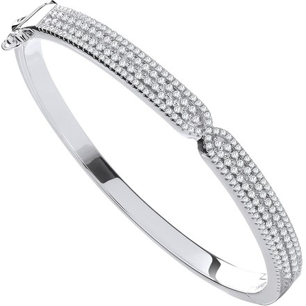 Selling: Silver Kiss CZ Ladies Bangle