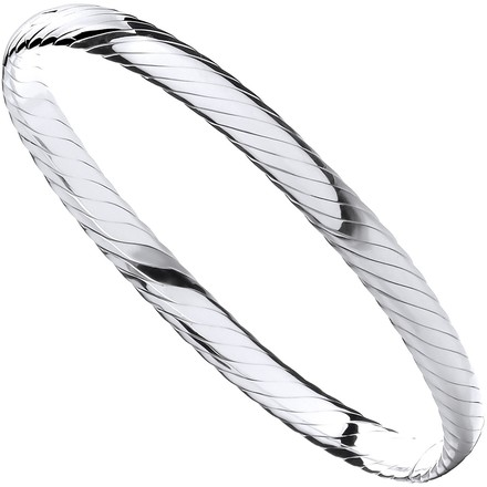 Selling: Silver Ribbed Ladies Bangle