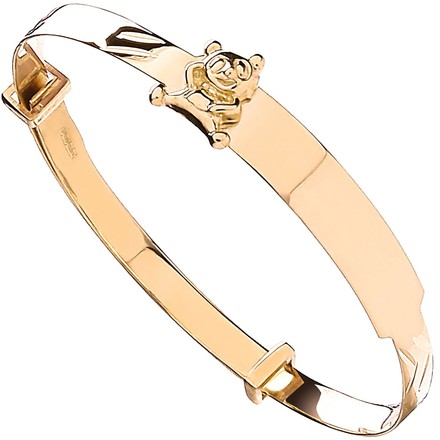 Selling: Y/G Expandable Baby ID Bangle With Teddy on ID