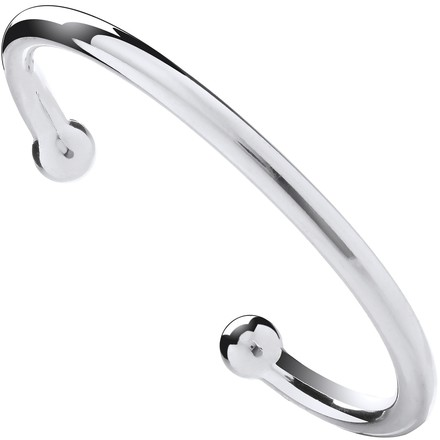 Silver 6mm Gents Torgue Bangle