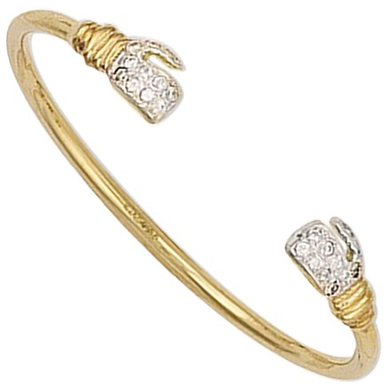 Selling: Y/G Baby Cz Boxing Glove Bangle