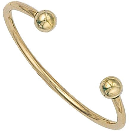 Selling: Y/G Solid Baby Torque Bangle