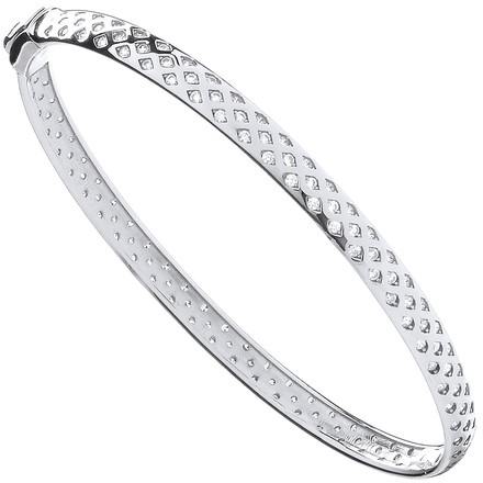 Selling: W/G with Cz Fancy Ladies Bangle
