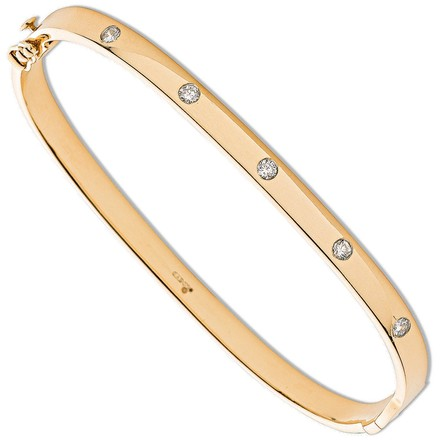 Selling: 9ct Yellow Gold 0.20ct 5 Stone Diamond Bangle