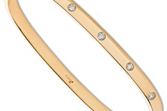 Selling: 9ct Yellow Gold 0.20ct 5 Stone Diamond Bangle