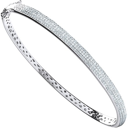 Selling: 9ct White Gold 0.86ctw Pave Set Diamond Bangle