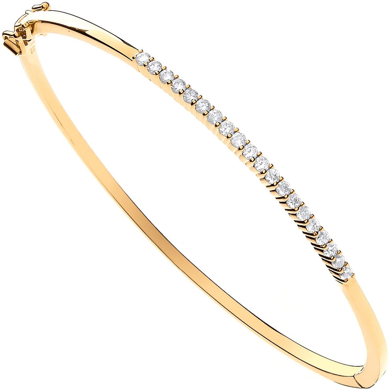 9ct Yellow Gold 0.50ctw Diamond Bangle